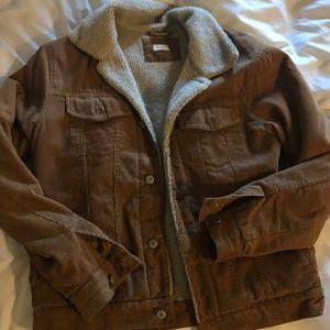 Brandy Melville Fur-Lined Corduroy Jacket